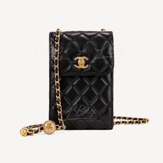 Chanel 小金球手機鏈袋