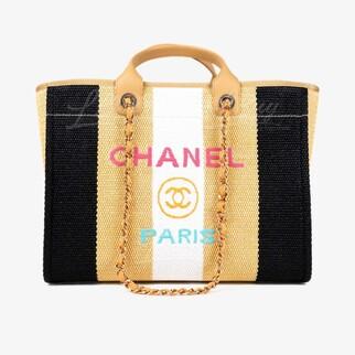 Chanel Deauville Tote Bag 拼色手挽袋