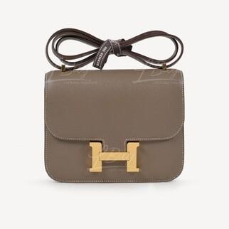 Hermes Mini Constance III 大象灰 金扣