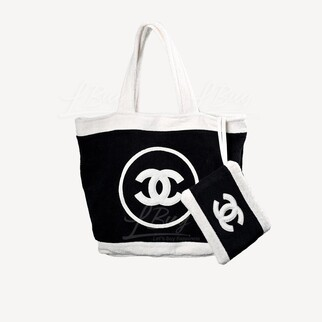 Chanel 大毛巾 小袋 沙灘袋 3合1套裝