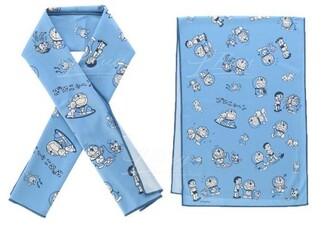 多啦A夢與大雄 淺藍冷感毛巾