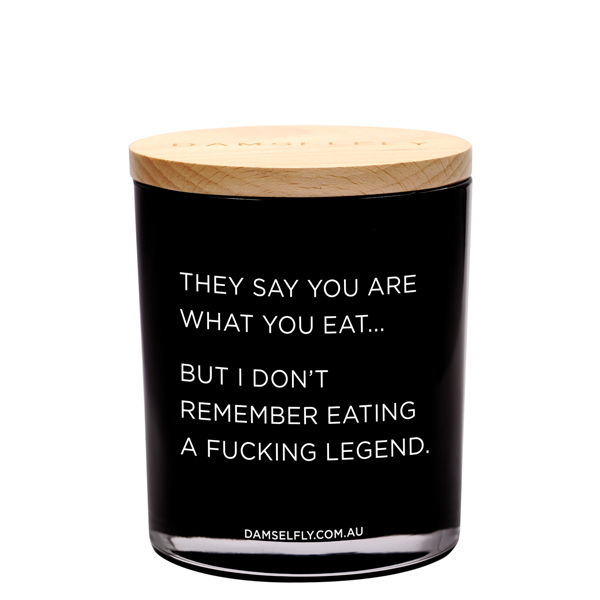 """They Say You Are What You Eat"" Austrlia natural made, ""Delilah"" aromas candles 400g"