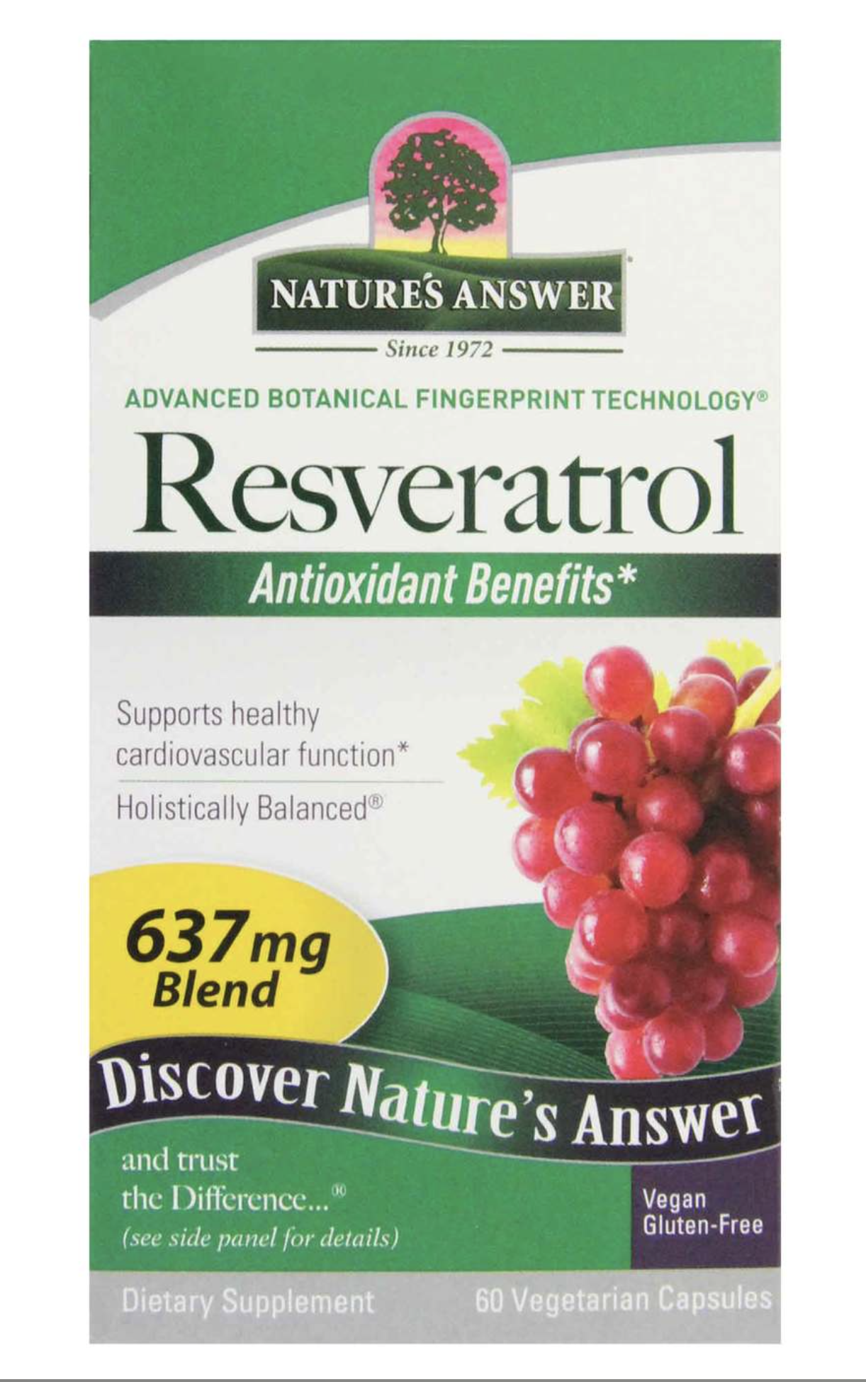 Nature's answer Resveratrol 637mg