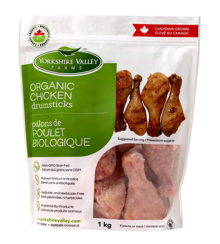 Yorkshire Valley Farms Organic Chicken Drumstick【冻货运费到付(约$150)】