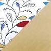 奶黃 (1947) + 彩色拼花圖案 (CM#KT70-2)