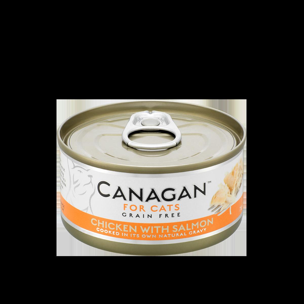 CANAGAN 原之選無穀物天然貓罐頭(主食罐) - 雞肉伴三文魚配方 75g