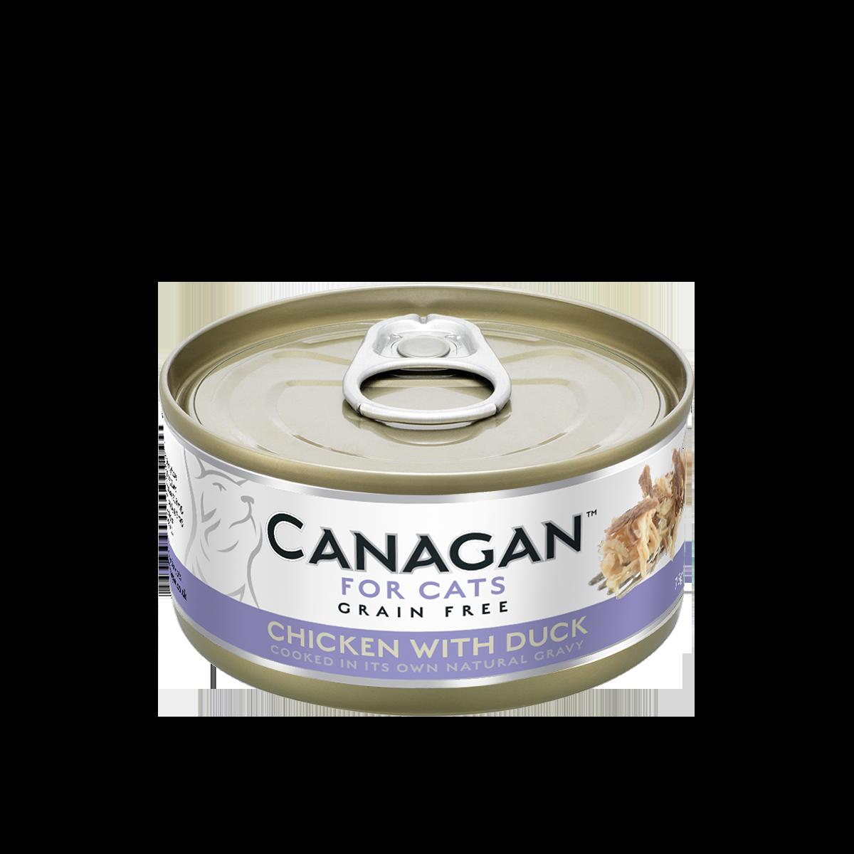 CANAGAN 原之選無穀物天然貓罐頭 (主食罐)- 雞肉伴鴨肉配方 75g